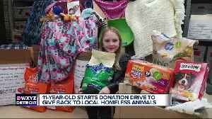 Macomb County 11 year-old helps homeless animals [Video]