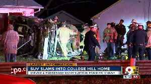 FD: 2 hurt after man drives into College Hill home [Video]