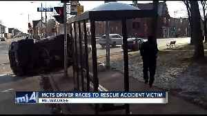 MCTS driver races to rescue victim of rollover crash [Video]