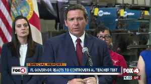 DeSantis vows to look into teacher certification issues and fix 'testing for test sake.' [Video]