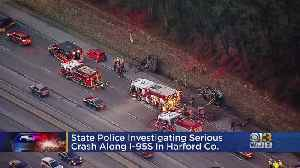 Two Cars Overturned In I-95 Crash Near Harford County [Video]