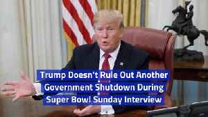 Trump Talks About Another Shutdown In Super Bowl Sunday Interview [Video]