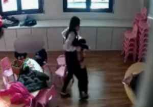 Italian Police Arrest Daycare Teachers Seen Mistreating Children in CCTV Footage [Video]