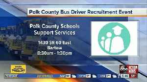 Polk County Schools holding five job fairs to hire 100 more bus drivers [Video]