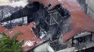 Plane crashed into house during family party [Video]