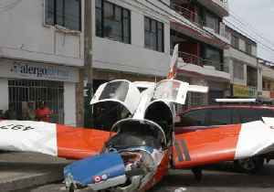 Peruvian Air Force Plane Crashes Onto Busy Street [Video]