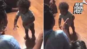 Angry toddler mumbles his way through hilarious argument [Video]