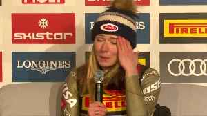 'This is crazy!' - Shiffrin shocked by her Super-G gold at worlds [Video]