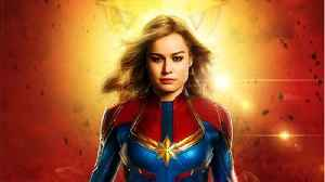 'Captain Marvel' Featured Side Of Airplane [Video]