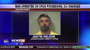 Man arrested on drug possession, DUI charges in Jackson County [Video]