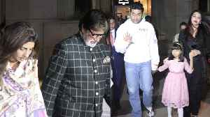 Abhishek Bachchan celebrates birthday with Amitabh, Aishwarya and Shweta Nanda [Video]