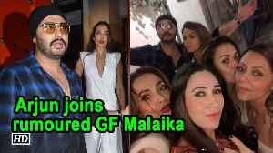 Arjun joins rumoured GF Malaika & girl gang at Gauri Khan's BASH [Video]