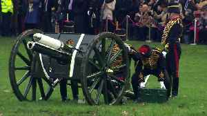 Gun salutes mark Queen's 67 years on throne [Video]