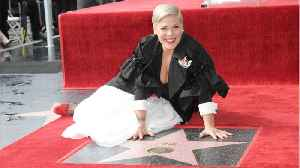 Pink Preaches Self-Love While Receiving Hollywood Walk Of Fame Star [Video]