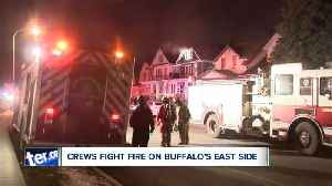 Crews fight fire on Buffalo's east side [Video]