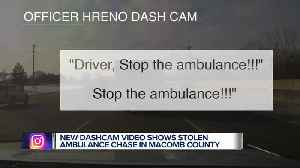 Police dashcam footage shows officers pursuing ambulance stolen by psychiatric patient [Video]