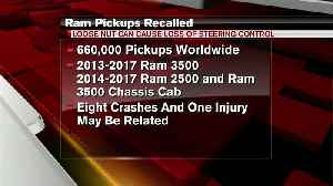 Fiat Chrysler recalling more than 750,000 Ram trucks, drivers could experience steering loss [Video]
