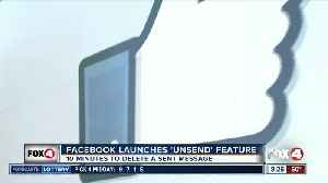 "Facebook launches ""unsend"" feature [Video]"