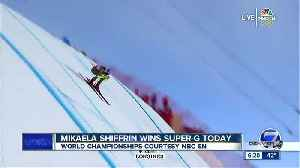Lindsey Vonn crashes in penultimate race as Mikaela Shiffrin wins world title [Video]