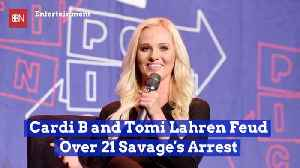 Cardi B Goes After Tomi Lahren On Twitter After 21 Savage Arrest [Video]