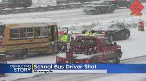 Bus Driver Shot On I-35W [Video]
