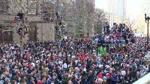 View of Patriots victory parade from Duck Boat [Video]
