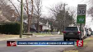 Metro Council to consider reducing neighborhood speed limits from 30 to 25 mph [Video]