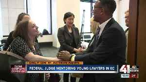 Federal Judge Brian Wimes talks mentoring young lawyers [Video]