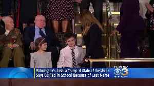 Wilmington 6th Grader Joshua Trump Sits Next To First Lady At State Of The Union Address [Video]