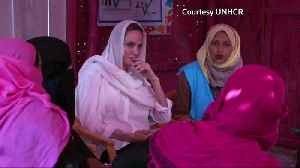 Angelina Jolie visits Rohingya camps, calls plight of refugees