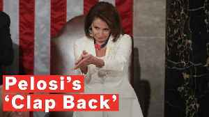 News video: Nancy Pelosi Applauds Trump At State Of The Union Address And Instantly Becomes A Meme
