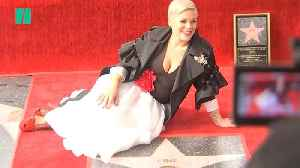 Pink Gets Star On Hollywood Walk Of Fame [Video]