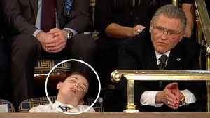 News video: Joshua Trump Emerges As Viral Star After Appearing To Fall Asleep During State Of The Union Address