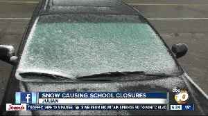 Snow leads to school closures in county's mountain areas [Video]