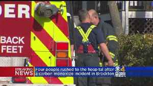 Four Rushed To Hospital In Brockton, Carbon Monoxide Poisoning Suspected [Video]