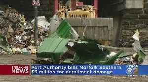 News video: Port Authority Sends Bill To Norfolk Southern Railroad For Train Derailment
