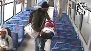 Dimwit dad ditches baby on train while having a smoke [Video]