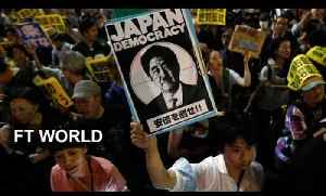 Japanese march against defence policy shift [Video]