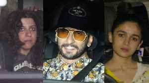 Ranveer Singh, Alia Bhatt, Zoya Akhtar attend special Gully Boy screening [Video]