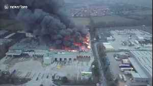 Drone footage shows extent of Ocado warehouse blaze in Andover [Video]