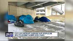 City of Detroit clears out popular spots where homeless lived [Video]