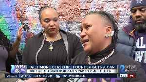 Dealership donates car to Baltimore Ceasefire founder [Video]