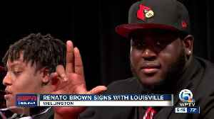 Renato Brown signs with Louisville [Video]