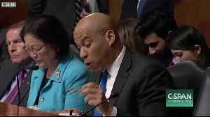 Senator Cory Booker Asks If Gay Marriage is a Sin [Video]