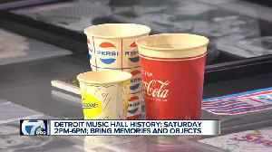 Detroit Music Hall History: Saturday 2pm to 6pm; bring memories and objects [Video]