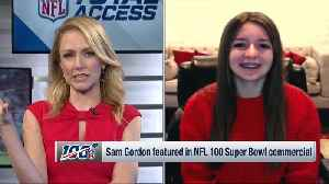 Sam Gordon breaks down her experience filming 'NFL 100' commercial [Video]