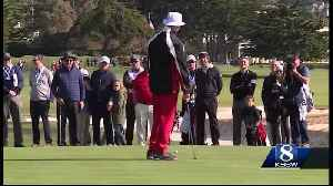 Bill Murray and Clint Eastwood play Pebble Beach for charity [Video]