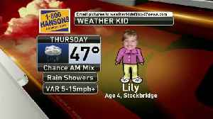 Weather Kid - Lily - 2/7/19 [Video]