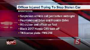 Brentwood officer hit while trying to stop stolen vehicle [Video]