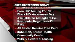 Free HIV testing today [Video]